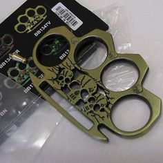 Skull Crusher - Brass Knuckles Knuckle Duster - AB : Non-Lethal Weapons at GunBroker.com