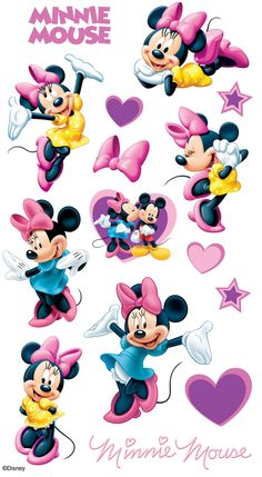 Mickey and Minnie Mouse Disney Scrapbooking paper Minnie Mouse Stickers, Minnie Mouse Cartoons, Mickey Mouse And Friends, Mickey Minnie Mouse, Disney Scrapbook, Scrapbook Stickers, Scrapbooking, Disney Collection, Walt Disney Animation Studios