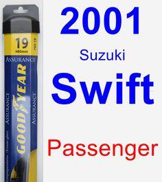 Passenger Wiper Blade for 2001 Suzuki Swift - Assurance