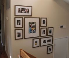 Easily hang an organized photo gallery with The PerfectPicturewall