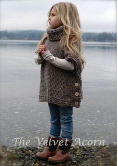 Muster Azel Pullover stricken 2 3/4 5/7 8/10 von Thevelvetacorn