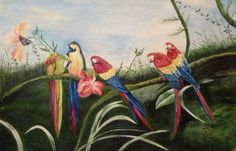 "Saatchi Online Artist Asha Sharma; Painting, ""birds"" #art"