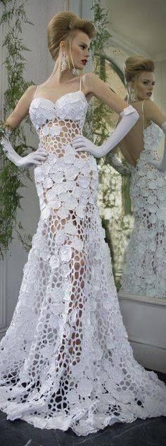 Crochet wedding dress, lovely ♥
