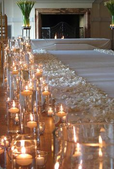 wedding candles aisle - Google Search