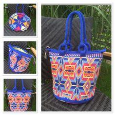 Crocheted bag size XL Mochila Crochet, Bag Crochet, Crochet Purses, Tapestry Bag, Tapestry Crochet, Crochet Christmas Trees, Boho Bags, Wholesale Bags, Clutch