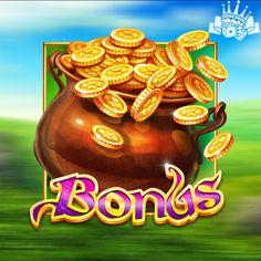 Slot Online, Pot Of Gold, Casino Games, Leprechaun, Slot Machine, Ireland, Irish, Icons, Characters