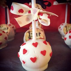 Alice in Wonderland Queen of Hearts themed Cake Pops