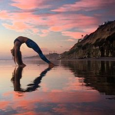 """""""Yoga is a way to freedom. By its constant practice we can free ourselves from fear anger and loneliness.""""  Indra Devi - -  Tag someone who LOVES YOGA!  -  @kaylala88 shows her love for yoga with this reflective heart in a beautiful upward bow pose or Urdhva Dhanurasana.  #myyogalife by yoga"""
