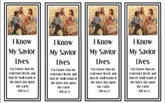 I Know My Savior Lives Primary 2015 Printable Theme and Monthly Bookmarks  2015 Primary Bookmark pdf     This is a PDF file you can print right from your printer, you just trim the bookmark :)