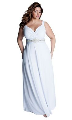 Plus Size Second Wedding Dresses | IGIGI Women's Plus Size White Diamonds Wedding Gown 12