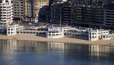 La Perla seen from La Concha beach. #SanSebastian #Architecture #Euskadi