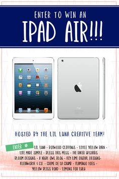 iPad Air Giveaway - Enter to win today on { anightowlblog.com } http://anightowlblog.com/2014/01/ipad-air-giveaway.html