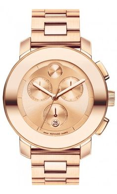 i die for this watch...  Movado Bold 38 mm mid-size Rose Gold Chronographic Watch $850