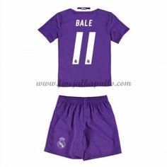 Real Madrid Lasten Jalkapallo Pelipaidat 2016-17 Bale 11 Vieraspaita