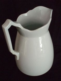 J G Meakin LG Ironstone Pitcher white antique