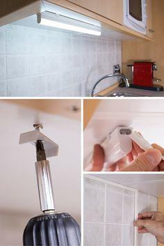Cómo instalar un nuevo punto de luz en la cocina ➜    Aprende a poner una regleta led e ilumina tu encimera.  #DIY #Luz #Led #Cocina #Regleta #Iluminación