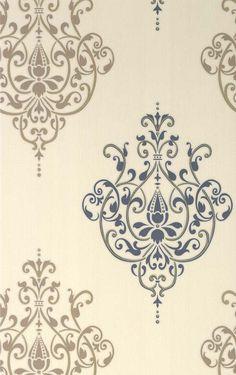 Cassandra £11.98 £5.97 Save: 50% off 17 Rolls Only Textured Vinyl, Pattern:75475 Colour:Blue/Beige 53cm x 10m 64cm repeat