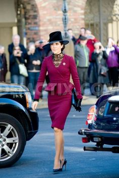 demotix:  Crown Princess Mary arrives at Christiansborg Palace to attend the Danish Parliament's Opening, October 1, 2013