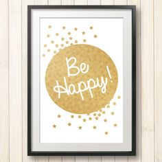 Printable Gold Children's wall art Instant Download by Dodlido