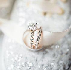 20 Beautiful Cushion Cut Engagement Rings -- see more: https://ruffledblog.com/20-cushion-cut-engagement-rings #engagementrings #weddingrings