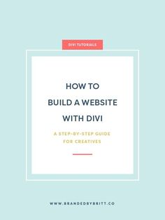 How To Build A Websi