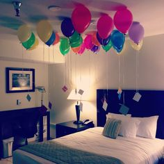 Get the amount of balloons he is turning and write notes to him or get something he likes