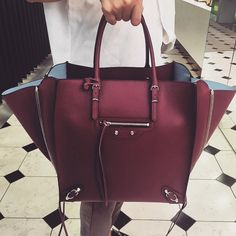 "A as In A on Instagram: ""Maroon ❤️ #balenciaga #bag #trend #tagsforlikes…"