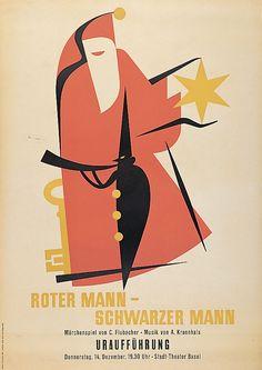 Keiser Ernst Roter Mann - Schwarzer Mann Stadt-Theater Basel Jahr: 1944