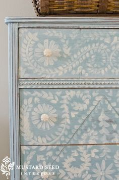 hand painted dresser via @Linda Church Seed by lise.robichaud.54