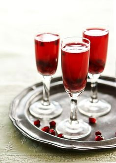 Pomegranate, cranberry and ginger spritzer - serve it chilled or warm.