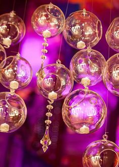Pretty open globe decor by Eventures. Photo by Randy Coleman Photography. #wedding #decor #glam