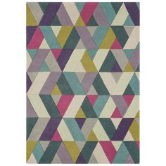 Funk Chevron Rug Blue/Green