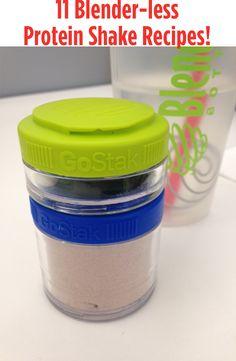 11 Blender-less Protein Shake Recipes Using My Blender Bottle http://mybestbadi.blogspot.com/2014/09/11-blender-less-protein-shake-recipes.html