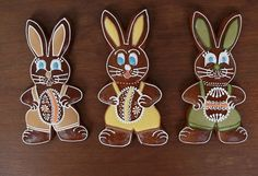 Dekoratívne medovníky - Fotoalbum - Veľkonočné Cute Cookies, Easter Cookies, Sugar Cookies, Royal Icing, Gingerbread Cookies, Biscuits, Ornament, Clay, Hand Painted