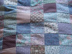 From Alicia Paulson's Posie Gets Cozy blog. This quilty bit is the essence of a spring twilight to me.