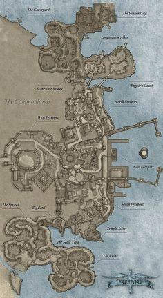 Coastal city map Fantasy city map Fantasy map Dungeons and dragons