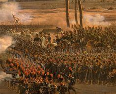 Extrait du tableau de Lejeune - La bataille des Pyramides Réunion des Musées Nationaux-Grand Palais - Piece of the Lejeune's painting : The battle of the Pyramids.