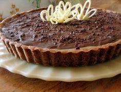 Torta de chocolate e caramelo