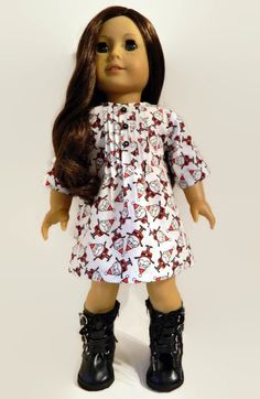 American Girl Doll Clothes Red White and Black by 18Boutique