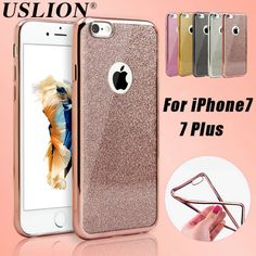 For Apple iPhone 7 6 6s Plus 5s SE Phone Case Luxury Glitter Bling Paper Transparent Soft TPU Cover Case Capa Coque For iPhone 7
