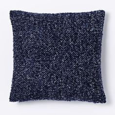 Heathered Boucle Pillow Cover - Nightshade | west elm