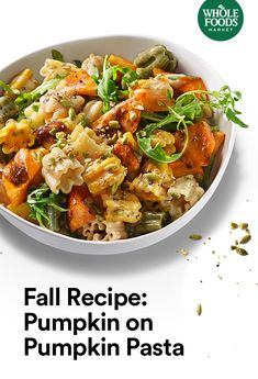 Layer on the pumpkin with an easy pumpkin pasta recipe you can pair with even more pumpkin. Make them while you still can this season! Pumpkin Recipes, Fall Recipes, Great Recipes, Whole Food Recipes, Dinner Recipes, Favorite Recipes, Holiday Recipes, Healthy Pasta Recipes, Gourmet Recipes