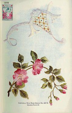 Corticelli IX Wild Rose 1898 by Embroiderist, via Flickr
