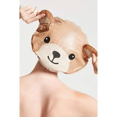Forever21 Bear Shower Cap ($3.90) via Polyvore featuring beauty products, bath & body products, brown y forever 21