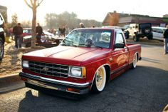Things are strange Chevy S10, C10 Chevy Truck, Classic Trucks, Classic Cars, S10 Truck, Toy Garage, Lowered Trucks, American Auto, Old School Cars