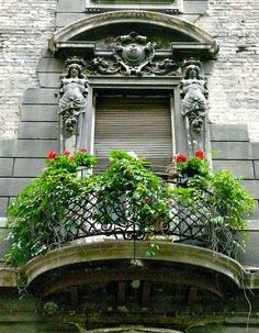 Window with beautiful balcony - Budapest Hungary by temp13rec., via Flickr