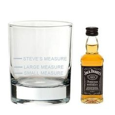Jack Daniel's measure gift set. What's your measure? #JackDaniels #whisky #personalisedgifts £27.50