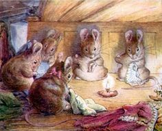 Beatrix Potter was an awesome artist. I love the quality of light and warmth in this painting.