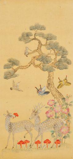 Korean Traditional Folk Painting Research Institute Traditional Japanese Art, Traditional Paintings, Contemporary Decorative Art, Korean Painting, Japanese Drawings, Korean Art, China Painting, Naive Art, Japan Art