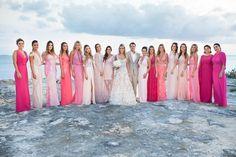 Madrinhas com vestidos na mesma cor - Foto Vanessa Kohler